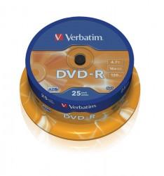 DVD-R Verbatim 4.7GB 16x (cake 25 ks.)