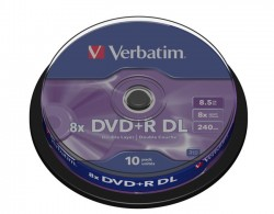 DVD+R Verbatim Double Layer 8.5GB 2.4x (cake 10)