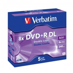 DVD+R Verbatim Double Layer 8.5GB 8x box - 5pak
