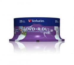 DVD+R Verbatim Double Layer 8.5GB Printable 2.4x (cake 25)
