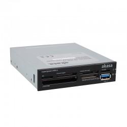 """Akasa AK-ICR-13 USB 3.0 6-portová čtečka paměťových karet 3,5"""" - černá"""