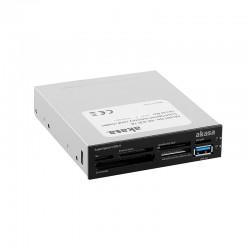 """Akasa AK-ICR-14 USB 3.0 6-portowy czytnik kart pamięci 3,5"""" - czarny/biały"""