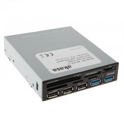 """Akasa AK-ICR-17 USB 3.0 5-portová čtečka paměťových karet 3,5"""" - černá"""