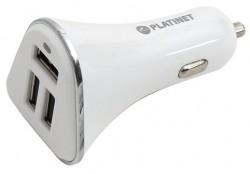 Platinet Car Charger 3x USB 5.2A bílý