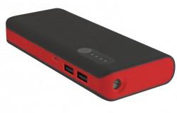 Platinet Power Bank 8000 mAh + microUSB cable + svítilna černo-červený