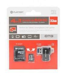 Platinet microSDHC 32GB [class 4, Adapter SD, čtečka karet microSD]