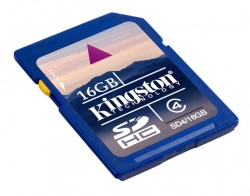 Secure Digital 16GB Kingston High Capacity Class 4