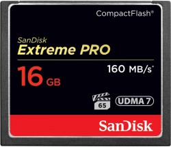 CompactFlash (CF) 16GB SanDisk Extreme Pro 160 MB/s VPG 65, UDMA 7 [SDCFXPS-016G-X46]