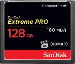 CompactFlash (CF) 128GB SanDisk Extreme Pro 160 MB/s VPG 65, UDMA 7 [SDCFXPS-128G-X46]