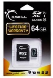G.SKILL Micro SDXC 64GB Class 10 + Adapter [FF-TSDXC64GA-U1]