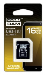 Micro Secure Digital (microSDHC) 16GB Goodram Class10 UHS I s adaptérem SD