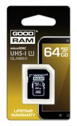 Micro Secure Digital (microSDHC) 64GB Goodram Class10 UHS I s adaptérem SD