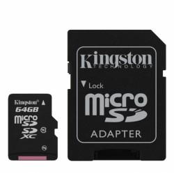 Micro Secure Digital (microSDXC) 64GB Kingston Class 10 s adaptérem SD