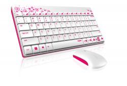 Rapoo 8000 2.4G bílo-růžová