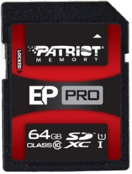 Secure Digital (SDXC) 64GB Patriot EP Pro UHS-I 90/50 MB/s
