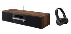 Pioneer X-CM66D-B + sluchátka SE-MJ553BT-K černé