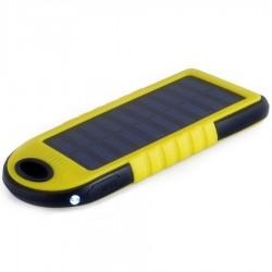 Solární nabíječka 5V 1A s akumulátorem 5000mAh žlutá