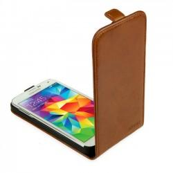 Skink Flap kožené pouzdro pro Samsung Galaxy A3 karamelově černé