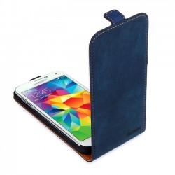 Skink Flap kožené pouzdro pro Samsung Galaxy A3 modré