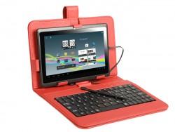 """Pouzdro Tablet Tracer 7"""" červené + klávesnice micro USB"""