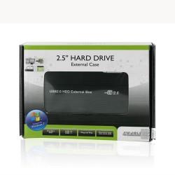 4World box USB 2.0 na disk HDD 2.5'' IDE (ATA) hlinikový, černý