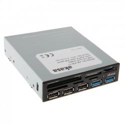 """AKASA čtečka karet 3,5"""" na USB 3.0 ! + 2 x USB 3.0 + 3 x USB 2.0 + ESATA (AK-ICR-17)"""