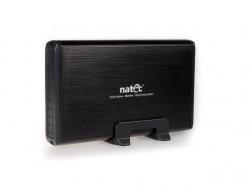 """Natec RHINO box USB 3.0 pro disk 3.5"""" SATA, černý kartáčovaný hlíník"""