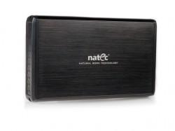 """Natec RHINO box USB 2.0 pro disk 3.5"""" SATA/IDE, černý kartáčovaný hlíník"""