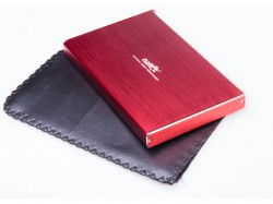 """Natec RHINO Limited Edition box USB 3.0 pro disk 2.5"""" SATA, červený kartáčovaný hlíník"""