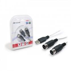 Konvertér USB - MIDI Unitek