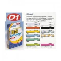 Páska Dymo D1- 9mm x 7m černážlutá