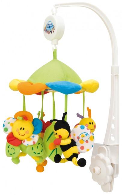 Canpol Babies Plyšový kolotoč s baldachýnem Barevná louka